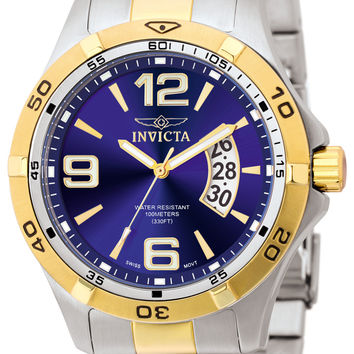 Invicta Men's 0087 Specialty Quartz 3 Hand Blue Dial Watch