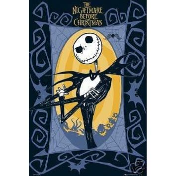 THE NIGHTMARE BEFORE CHRISTMAS POSTER Jack NEW 24x36