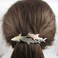 Shark French Barrette 80mm- Hair Accessories- Hair Clips- Shark Jewelry