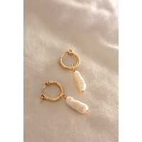 Mini Biwa Hoop Earrings - Christine Elizabeth Jewelry