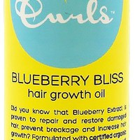 Curls bliss hair growth oil, blueberry, 4 oz