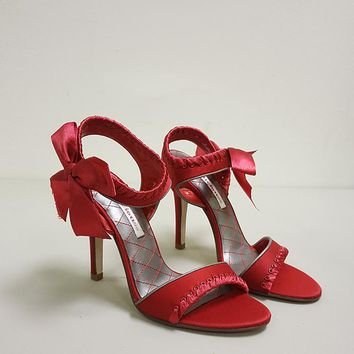 DELICIOUS ANTING RIBBON TIE HEELS (SAMPLE)