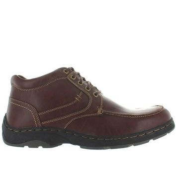 Deer Stags Waverly - Redwood Leather Lace-Up Moc Boot