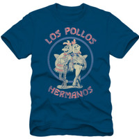 Breaking Bad - Los Pollos Hermano Navy T-Shirt at AllPosters.com