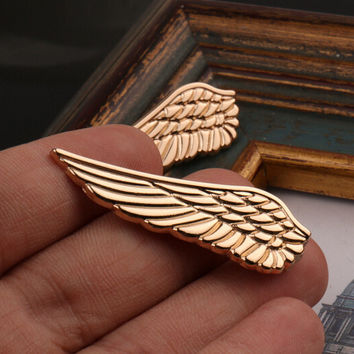 New Arrival Simple Style Wing Tie Clips for Men