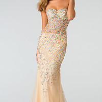 Elegant Beaded Evening Gown by Atria