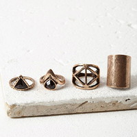 Faux Stone Ring Set
