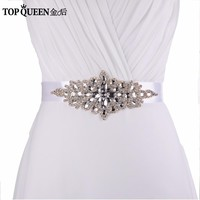 TOPQUEEN S01 Women's Rhinestone Wedding Belt Accessories Bride Bridesmaid Bridal Sashes