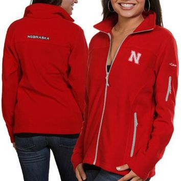 Columbia Nebraska Cornhuskers Ladies Give and Go Fleece Full Zip Jacket - Scarlet