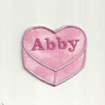 Your Name on a Conversation Heart, LARGE Any Color Patch! Custom Made!