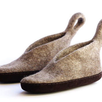 organic wool shoes-Felted slippers- women's slippers- warm shoes-eco-friendly slippers