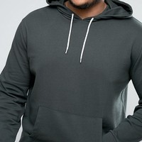 ASOS PLUS Hoodie In Khaki at asos.com