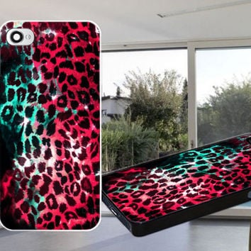 LEOPARD STORM PINK Case for iPhone 4,iPhone 4S,iPhone 5,iPhone 5S,iPhone 5C,Samsung Galaxy S2 / S3 / S4