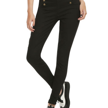 LOVEsick Black Sailor High-Waisted Skinny Jeans