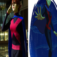 Young Justice Costume Miss Martian Suit Black and