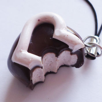 CHARM / NECKLACE / KEYCHAIN  Bitten Chocolate Candy by FrozenNote