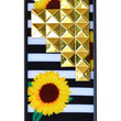 Sunflower Stripes Gold Studded Pyramid iPhone 5/5s case