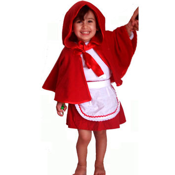 PDF Little Red Riding Hood pattern, Costume for girls, PDF costume