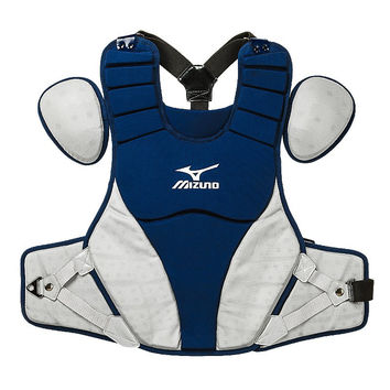 "Mizuno Samurai 16"" Chest Protector Adult - Navy Gray"