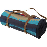 Pendleton Lahaina Wave Blanket with Leather Carrier Aegean, One