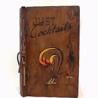 Just Cocktails 1939 Illustrated Mixed Drink Recipe Book or Bartender Guide