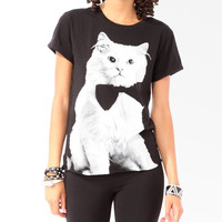 Relaxed Fancy Cat Tee