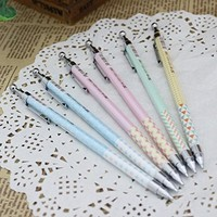 Angelangel 8 pcs Cute Kawaii Cartoon Fresh 0.7mm Refill Mechanical Pencils Set