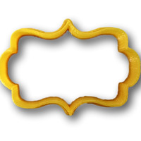 Plaque shape 2 Cookie Cutter