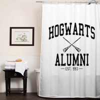 Hogwarts alumni harry potter custom shower curtain
