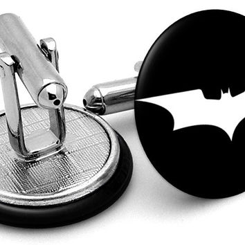 Batman Dark Knight Logo Cufflinks