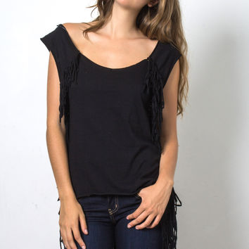 Brooklyn Karma Harpa Fringe Top