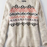 AEO Women's Textured Pullover Sweater