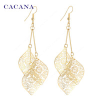 Drop Hollow Leaves Earrings For Women