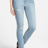 Women's Jessica Simpson 'Uptown' Distressed High Rise Ankle Skinny Jeans (Belize)