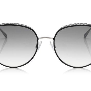 Jimmy Choo Ello Black Palladium with Micro Stud Detailing Sunglasses