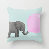 Jumbo Bubble Throw Pillow by Monica Gifford | Society6