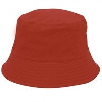 Dahlia Summer Sun Hat - Reversible Bucket Hat - Red and Pink