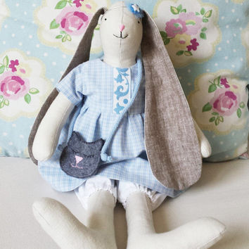 Easter Bunny, Bunny doll girl, Stuffed Animals, Nursery Decor, Nursery, Stuffed bunny, Bunny rag doll, Maileg, Plushie, Heirloom bunny doll