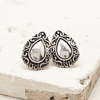 Ornate Almond-Shaped Studs