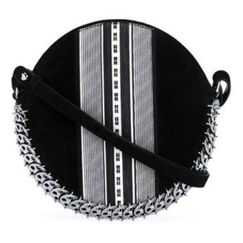 PACO RABANNE | Leather and Suede Chainmail Drum Bag | Womenswear | Browns Fashion