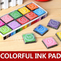 20pcs / box , Korean candy color square ink pads for kids finger painting , colorful stamp pads / inkpad for DIY scrapbooking = 1958399876