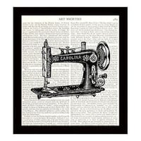 Victorian Sewing Machine 8 x 10 Dictionary Art Print Vintage Decor