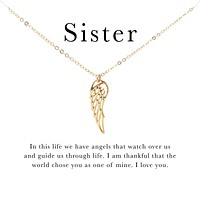 Sister Angel Wing Necklace