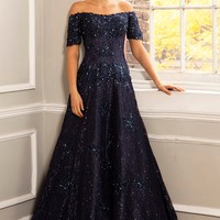 Off The Shoulder Gown 25607