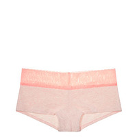 Logo Lace Trim Boyshort Panty - PINK - Victoria's Secret