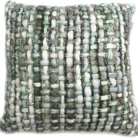 Randee Feather Cushion 20X20 Contemporary Modern Light Grey