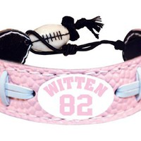 My Associates Store - NFL Dallas Cowboys Jason Witten Pink Jersey Bracelet