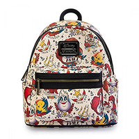 Disney The Little Mermaid Tattoo Vegan Faux Leather Mini Backpack Loungefly