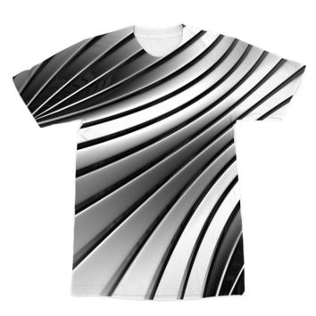 Black and White Metal  American Apparel Sublimation T-Shirt
