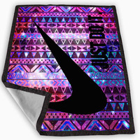 nike just do it aztec galaxy tribal design Blanket for Kids Blanket, Fleece Blanket Cute and Awesome Blanket for your bedding, Blanket fleece **